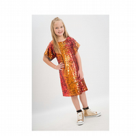 Molly Dress - T-shirt Dress - Sequin Dress - Girls Sequin Dress - Party Dress