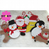Christmas craft kit, craft kit, sew your own, Christmas garland, DIY kit