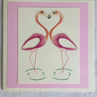 Flirty Flamingoes