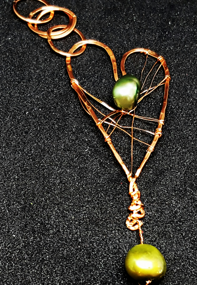 Wirework Heart Pendant