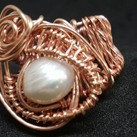 Pearl Wrapped Rose Gold Plated Ring