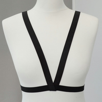 Black Elastic V Body Harness