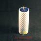 Swanky 2 Colour Hand Rolled Beeswax Pillar Candle, Blue Inside White Outside