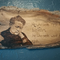 "Dylan thomas wall art, ""he who seeks"""