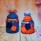 Crochet storage basket set of 2