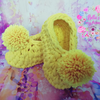 Crochet kids slippers