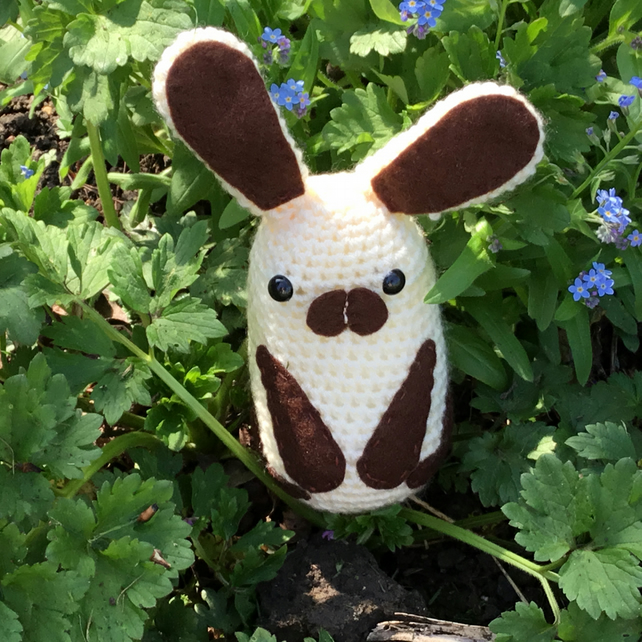 Crochet Rabbit with Lavender Bag. Drawer Freshener. Home Decor. Crochet Animals
