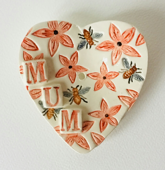 Heart Shaped Soap Dish With Honey Bees And Flow Folksy