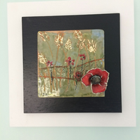 Poppy field tile artwork