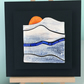 Orange Sunset - Ceramic Tile Wall art