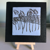 corn field - blue ceramic tile
