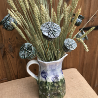 3 x Ceramic Seedhead decorations for arrangement