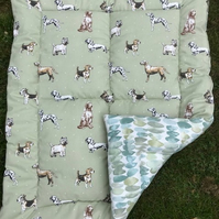 Dog handmade, quilted duvet - bed