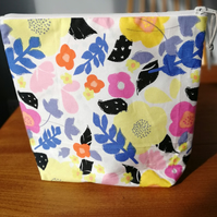 Bright Florals Make Up Bag