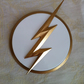 Flash Emblem Badge, Zoom, Kid flash, Reverse flash, 3d Printed, Unofficial