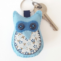 felt keyring embroidery kit, Bluebell the owl craft sewing kit, beginner diy