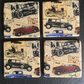 Vintage Cars Coaster Old Fashion Set of 4 Decoupage Natural Stone Rustic Coaster