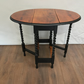 Dining Room Table Small Dropleaf Table Part Painted Black And High Gloss