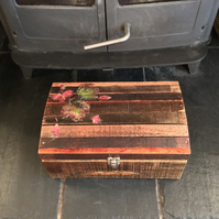 Memory Box Keepsake Box Rustic Box Large Wooden Box Wooden Treasure Chest