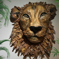 Example Only  - Made to Order  Paper Mache Lion (Zodiac Leo)