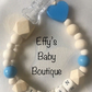 Blue Heart Personalised Wooden Dummy Clip