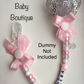 PINK FOOTPRINTS Personalised Dummy Clip