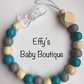 Teal and Grey UNPERSONALISED Wooden Dummy Clip
