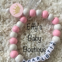CROWN Personalised Wooden Dummy Clip