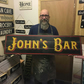 Personalised Aged Bar Sign, Vintage Look - 100% Handmade and Hand-Painted in Eng