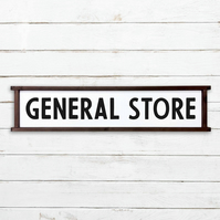 General Store Sign - 100% Handmade and Hand-Painted in England.