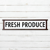 Fresh Produce Sign - 100% Handmade and Hand-Painted in England.