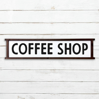 Coffee Shop Sign - 100% Handmade and Hand-Painted in England.