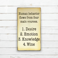 Wine Knowledge Sign