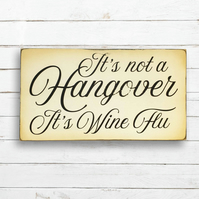 It's not a hangover sign.