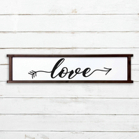 Love Sign - 100% Handmade and Hand-Painted in England.