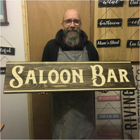 Saloon Bar Sign - 100% Handmade and Hand-Painted in England