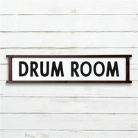 Drum Room Sign - 100% Handmade and Hand-Painted in England.