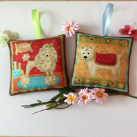DOG LAVENDER SACHETS POODLE and TERRIER
