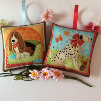 DOG LAVENDER SACHETS HOUND and DALMATIAN