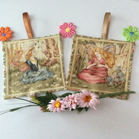 FLOWER FAIRIES LAVENDER BAGS SACHETS...SET D