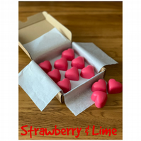 Handmade 100% Soya Wax Strawberry & Lime  Scented Melts