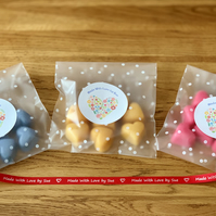 3 Packs of Handmade 100% Soya Wax Scented Melts & Free Blue Mini Oil Burner