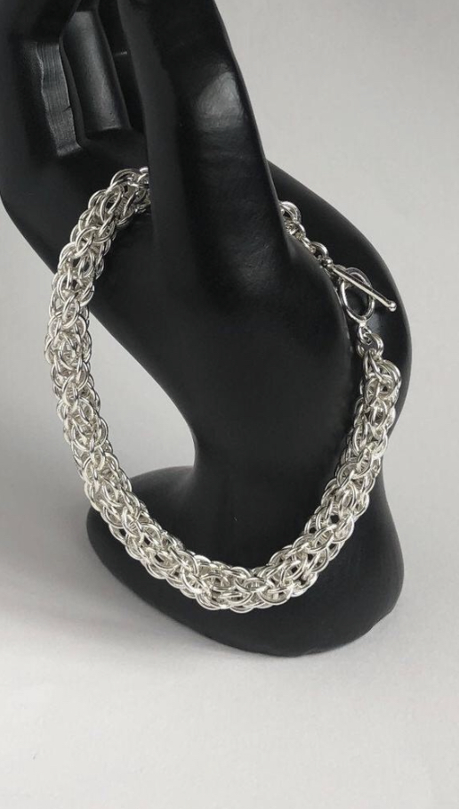 Sterling Silver Ladies Chainmaille Bracelet