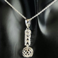 Sterling Silver Chainmaille Pendant