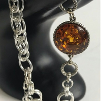 Baltic Amber Chainmaille Bracelet