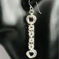 Sterling Silver Byzantine and Mobius Earrings