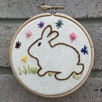 Rabbit Embroidery Hoop