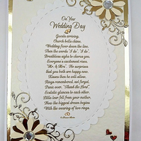 Wedding Card with Verse,Keepsake Card with Poem for Happy Couple FREE P&P to UK