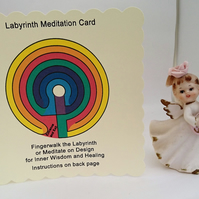 Labyrinth Card, Gift,Portable Finger Labyrinth, Angel Altar, FREE POSTAGE TO U.K