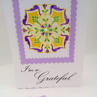 Gratitude Card, Special Thank You Card with a twofold purpose  FREE P&P to UK